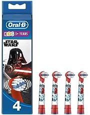 Oral-B Kids Tandborsthuvuden Dekorerade Med Star Wars-figurer, Förp. Med 4 st., Borsthuvud Särskilt Framtaget För Barn, Från 3år
