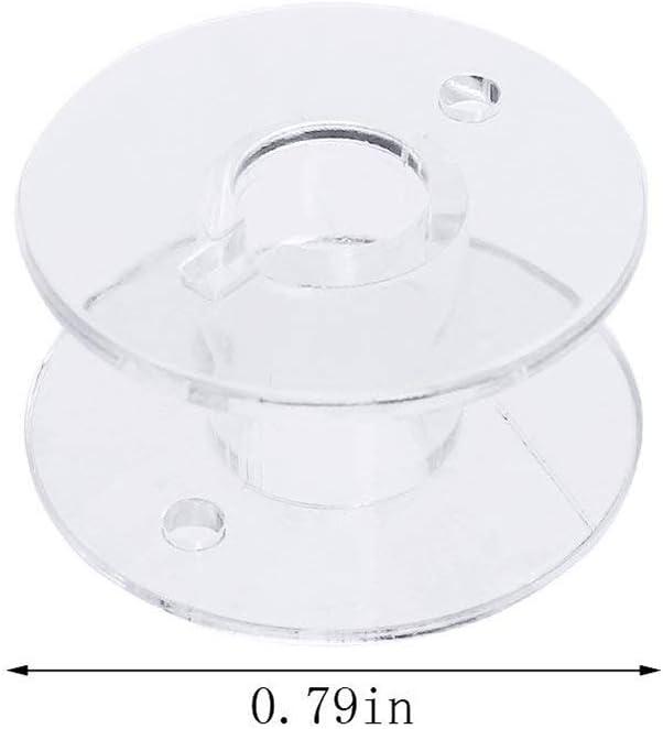 Creacom Transparente Spulen mit Aufbewahrungskoffer 25-teilige transparente Spulen mit durchsichtigem Kunststoff-Aufbewahrungskoffer f/ür Haushalts und Bastelbedarf
