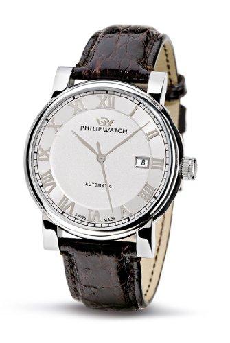 Philip Herren-Armbanduhr Wales Leder Dunkelbraun R8221193015