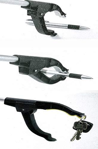 Leonado Vicenti Greifzange 4 St/ück mit Magnet 76 cm aus Aluminium Greifer f/ür M/üll Greifhilfe