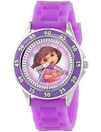 Kids' DOR9014 Dora the Explorer Time Teacher Watch with Purple Band