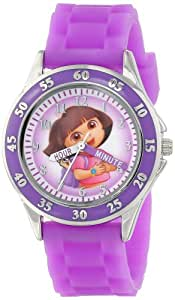 Nickelodeon Kids' DOR9014 Dora the Explorer Time Teacher Watch with Purple Band