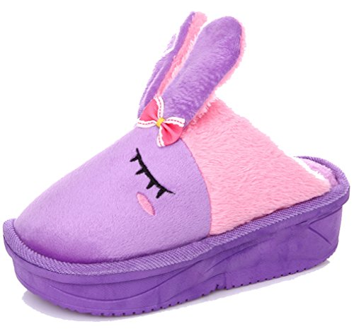 Blubi Womens Cute Bunny Slippers Bunny Shoes Purple