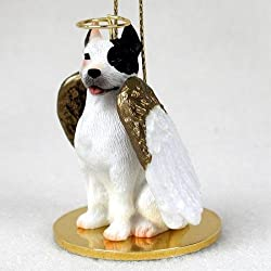Pit Bull Terrier, White Tiny Ones Dog Angels (2 in)
