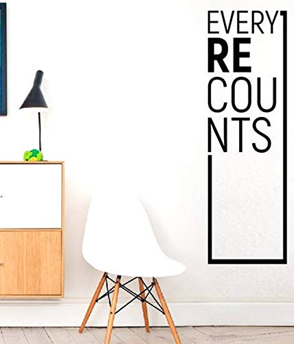 CLIFFBENNETT Every recounts - Quote Decal Fitness Workout Exercise Motivational Gym Wall Decals, Wall Vinyl Decals Stickers DIY Art Decor Bedroom