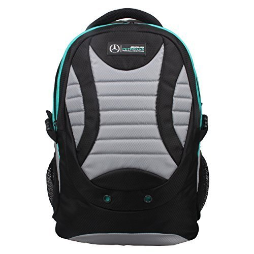 Mercedes AMG Petronas Travelers Backpack (Black/Grey) by Mercedes AMG Petronas