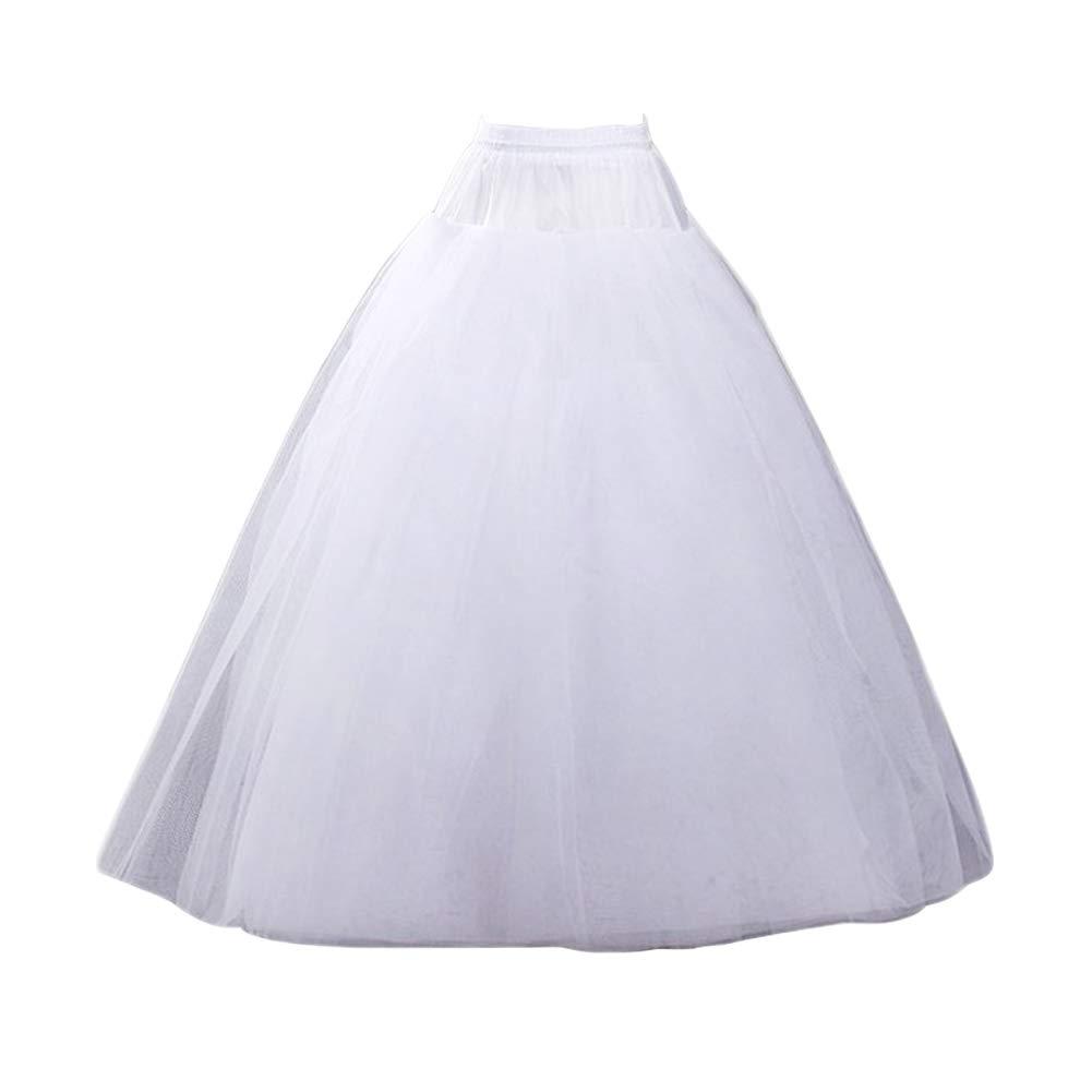 Vivian's bridal Women's White A-line Wedding Accessories Petticoat Underskirt Slips