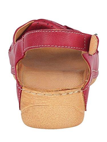Rot Schlaufe Damen Raffinierter Sandale mit KLiNGEL qSwXdH1ZI