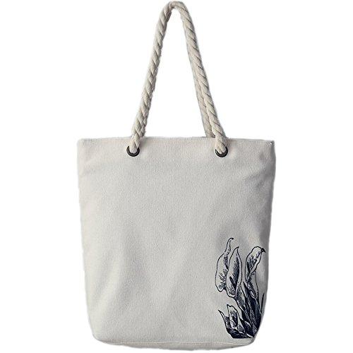 Canvas Tote Shopping Holiday Bag Flower Shoulder Ladies Protection Bag Beach Environmental SHINA Reuseable Summer Shopping q5pAF5