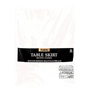 Amscan - Faldón de mesa, color blanco (77025-08A)