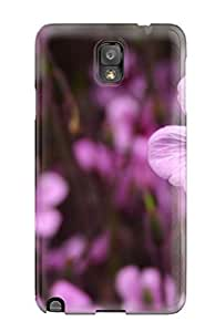 Durable Defender Case For Galaxy Note 3 Tpu Cover(purple Flowers)