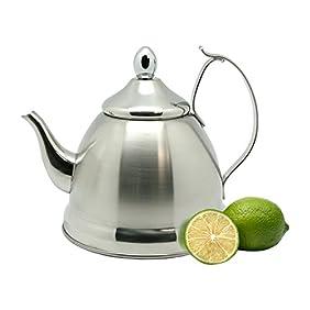 Creative Home Nobili Tea Stainless Steel Tea Kettle, Stainless Steel