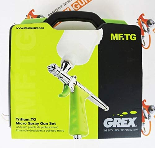 GREX Tritium.TG Gravity Feed Piston Trigger Micro Spray Gun Set 0.5mm with Bonus by SprayGunner