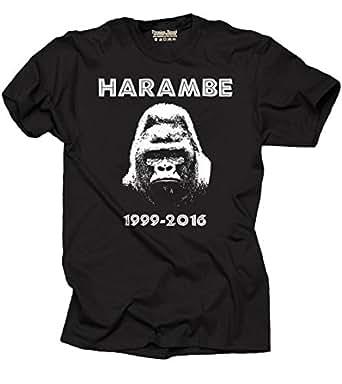 Harambe Gorilla T-shirt Support Harambe Shirt Small Black