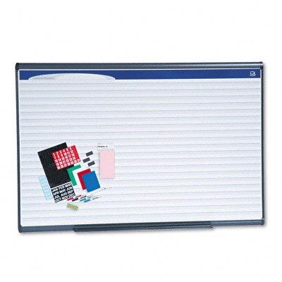 Quartet Prestige Plus Magnetic DuraMax Planning Board, Horizontal Lines, Graphite Finish Frame, 6 x 4 Feet ()