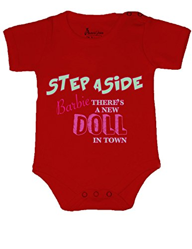 Allure & Grace Funny Baby Onesie Romper Bodysuit Step Aside Barbie Baby Shower Gift