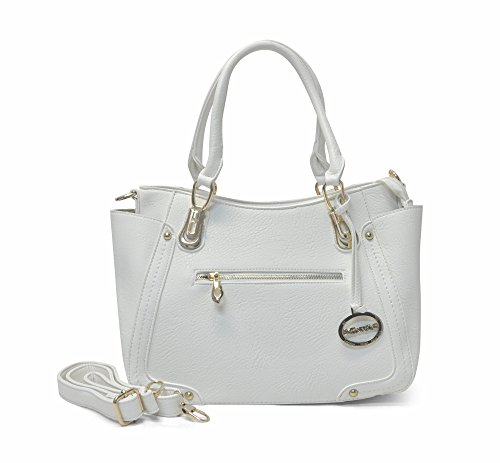 Sorrentino Women's Handbag No. 763 Office Tote Handbag (White)