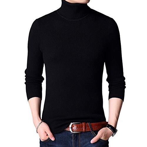 Allthemen Laine Sweat Noir D'automne Col Uni Manches Slim Fit Tricot Homme Longues Pull pull Montant over D'hiver Sweater qrCawqRgHx