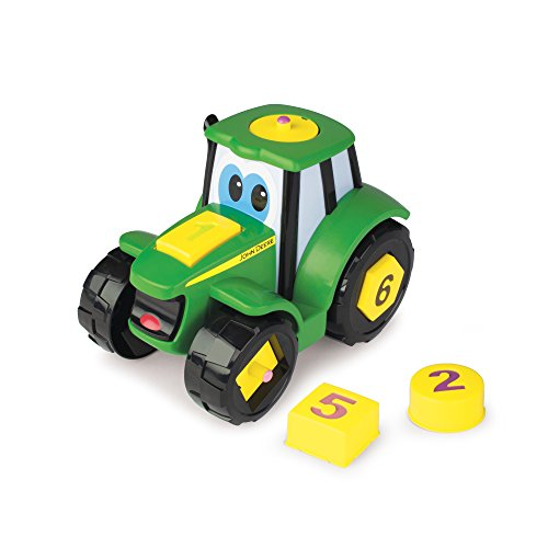 TOMY John Deere Learn N Pop Johnny Vehicle (Johnny Tractor Puzzle)
