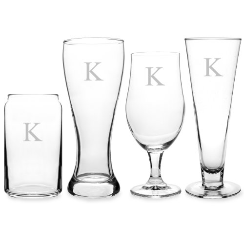 Engraved Classic Pilsner Glass (Cathy's Concepts Personalized Beer Glasses, Letter K)