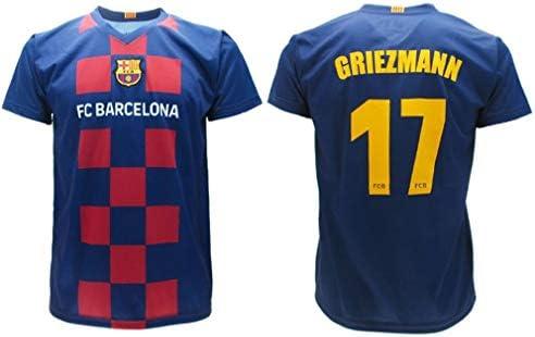 Antoine Griezmann 17 Barcelona FCB Camiseta 2019/2020 Barcellona Barça Réplica Oficial Auténtico Jersey T-Shirt Tamaño Niño (Años 2 4 6 8 10 12 14) y Adulto (S M L XL) (8 AÑOS): Amazon.es: Deportes y aire libre