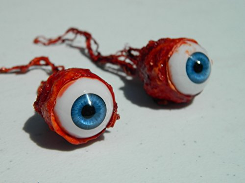 Pair of Realistic Life size Bloody Ripped Out Eyeballs - Halloween props - FB011