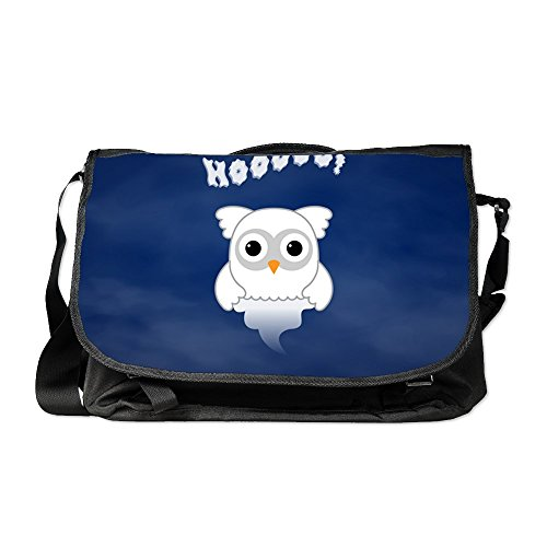 Truly Teague Laptop Notebook Messenger Bag Spooky Little Ghost Owl in the -