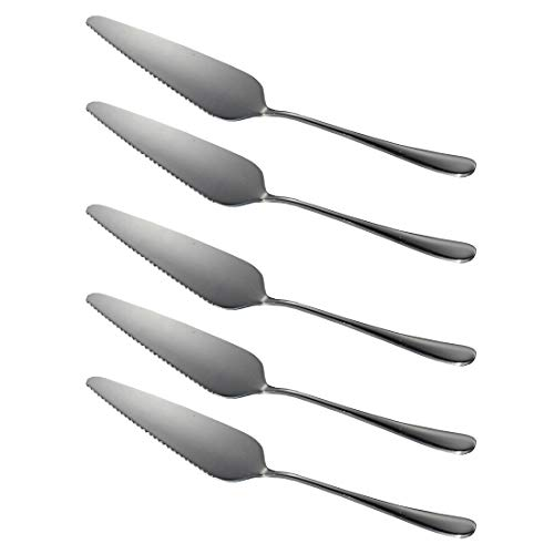 Richohome Stainless Steel Pie Server Cake Server, Pack of 5