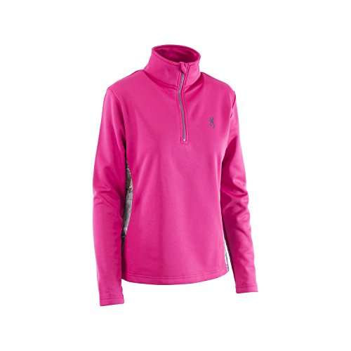 Browning Womens Pieced 1/4 Zip Jacket, Realtree Xtra Camo, Fuchsia, X-large, Pack of 1