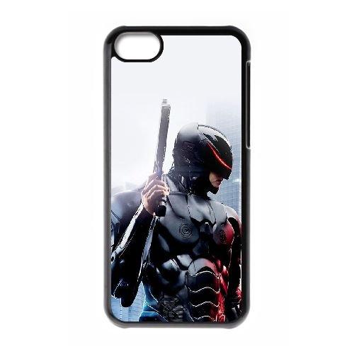 T6S47 Robo Cop cas de téléphone O2E4QQ coque iPhone 5c cellulaire couvercle coque noire KM6GEO4NG