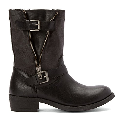 US Wanted Womens Boots Barney Casual Black 8 5 Size Leather 7HvEwPHqx