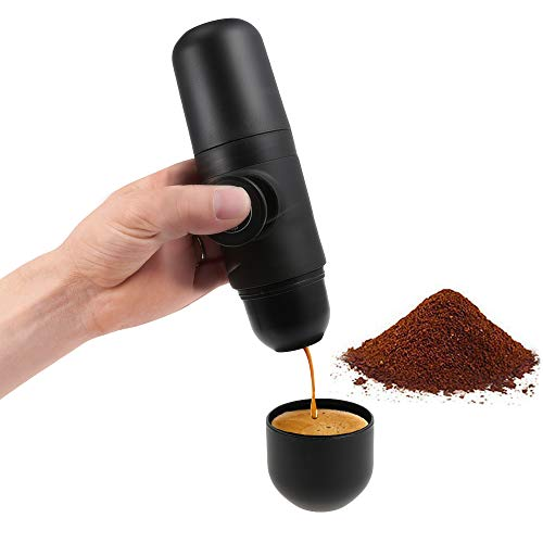 2 in 1 Mini Espresso Coffee Maker with Easy Option Refill, Water Tank 70 mL and Extra Small Travel Size Perfect for Camping, Travel, Kitchen and Office by kbxstart (Image #4)
