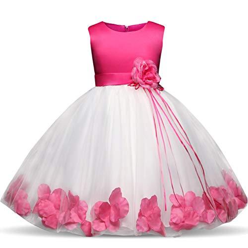 4-10 Years Kids Flower Bridesmaids Dresses for Girls Wedding Elegant Party Pageant Dress Formal Gown for Teen Children,Bm,10