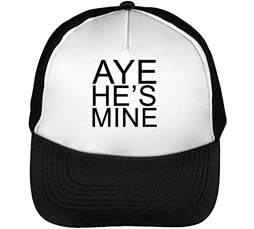 Aye He Is Mine Gorras Hombre Snapback Beisbol Negro Blanco