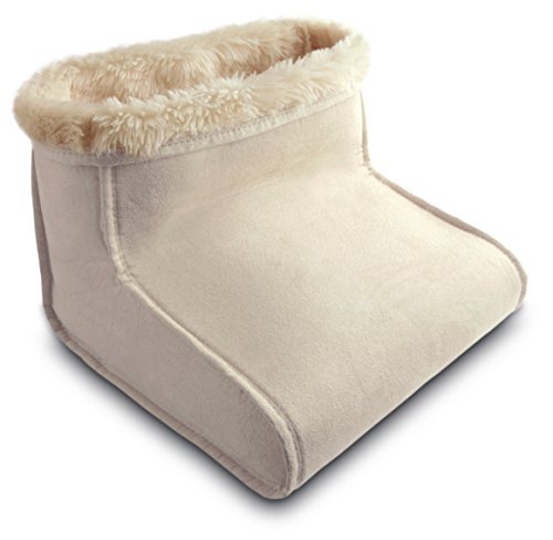 Daga BM-Purpose Foot Warmer, 100W, 4 temperature settings, suede outer and inner Acrylic Covers PVC Plastic Heating Pad, Cream