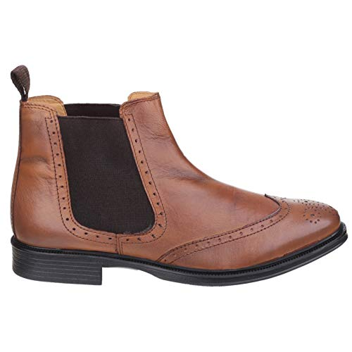 Brown Brogue Slip Closure on Cotswold Uomo chiaro Nettleton Boots BqtPw