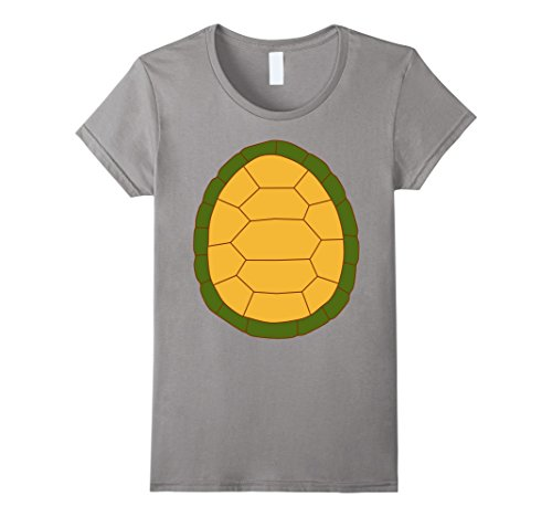 Womens Turtle - 2 sided Easy Halloween Costume Idea - Tee Shirt XL Slate