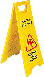 Wet Floor Caution Sign, 26-Inches Tall, Folding A-Frame, English & Spanish, Pack