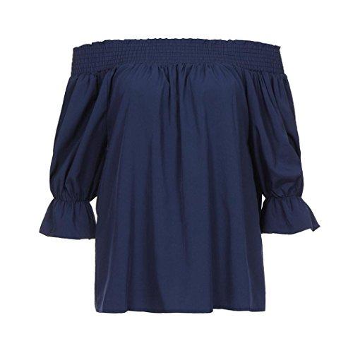 Coton Bule Chemisier Femmes Lâche Shirt à Femmes en Crop Casual Manches Chic Beikoard Débardeurs T Chemise Sweat Top Tops Blouse Haut Longues Pull Bw4WOqWFzx