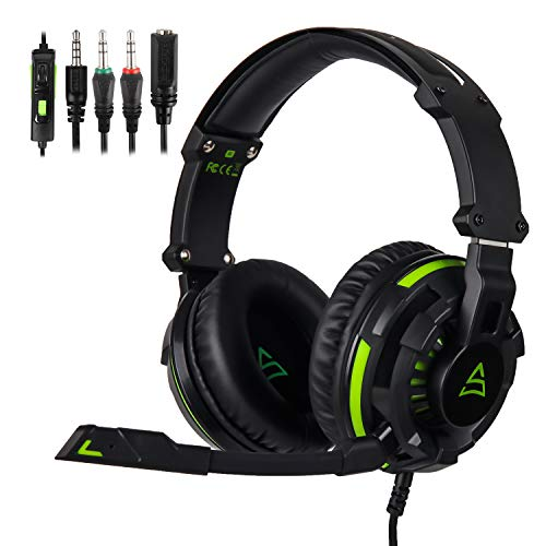 LETTON Kids Headphones with Microphone Wired Gaming Headset for Xbox One PS4 PC Over Ear Earphones Gift for Children…