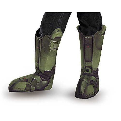 Costumes Boot Cover (Disguise Men's Master Chief Adult Costume Boot Covers, Green, One Size)