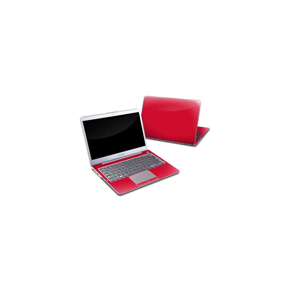 Solid State Red Design Protective Decal Skin Sticker for Samsung Series 5 13.3 inch Ultrabook PC 530U38 A01 Computers & Accessories