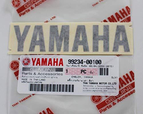 (Yamaha 99234-00100 - Genuine Yamaha Decal Sticker Emblem Logo Black Self Adhesive Motorcycle / Jet Ski / ATV / Snowmobile)