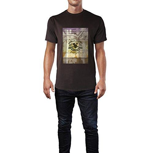 SINUS ART® Beach Party – Have A Fun Time Herren T-Shirts in Schokolade braun Fun Shirt mit tollen Aufdruck