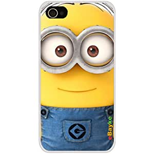 eBayke® DCM-11 Apple iPhone 4S 4G iPhone4 At&t Sprint Verizon Funny Cartoon Movie Despicable Me Cute Minions Minion Pattern Snap-on Protective Skin Case Cover