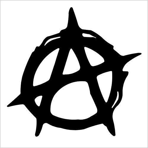 Christian Anarchy Symbol Black Decal Sticker Laptop Die Cut Black Decal Sticker