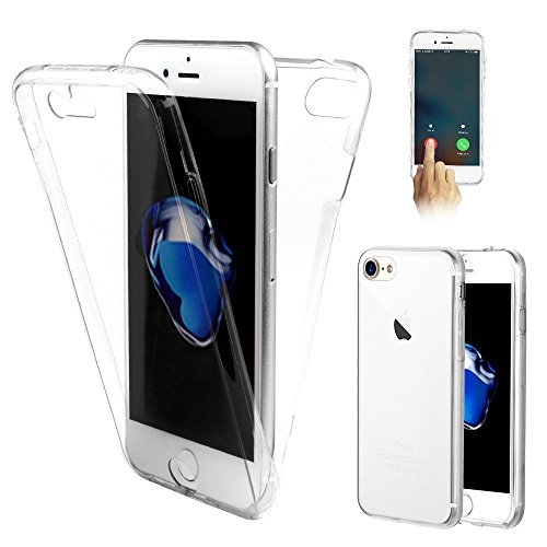 "VSHOP ® Coque Gel iPhone 7 ( 4,7 pouces) 360 degres Protection INTEGRAL Anti Choc , Etui Ultra Mince Transparent INVISIBLE iPhone 7 (4.7"")"