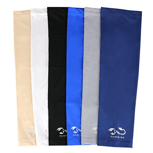 Scorpion 1 Pair, UV Protective Compression Arm Sleeves Arm Cooler Sunblock Sleeves