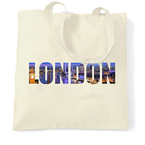 Price comparison product image London At Night Big Ben Eye Love UK England City Tourist Hipster Tote Bag