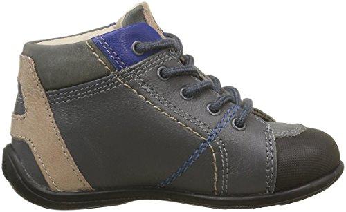 Aster Otello - Zapatos de primeros pasos Bebé-Niñas Gris - Gris (Gris Foncé)